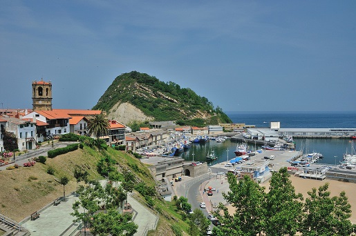 Getaria, located in the Basque Country of Northern Spain