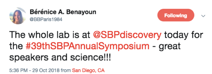 Tweet by scientists praising the symposium