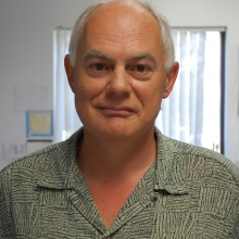 Guy Salvesen, Ph.D., in the lab