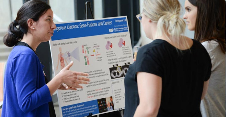 Sanford Burnham Prebys Cancer Center Open House poster presentation