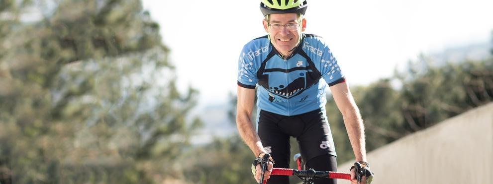 Peter Adams on bike