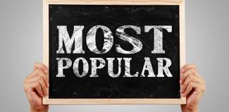 most popular written on chalkboard