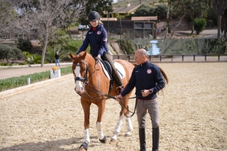 Morgan Webb Liddle rides Bailarino, coached by Olympian Steffen Peters